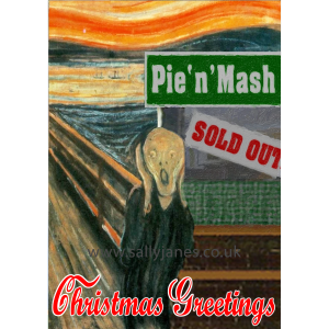 Scream of Christmas Past Greeting Card